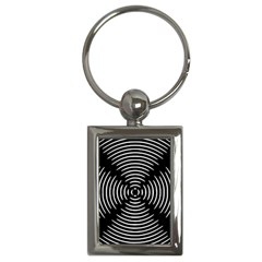 Gold Wave Seamless Pattern Black Hole Key Chains (rectangle)  by Mariart