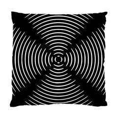 Gold Wave Seamless Pattern Black Hole Standard Cushion Case (two Sides) by Mariart