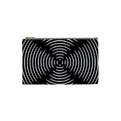 Gold Wave Seamless Pattern Black Hole Cosmetic Bag (small)  by Mariart