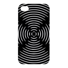Gold Wave Seamless Pattern Black Hole Apple Iphone 4/4s Premium Hardshell Case by Mariart