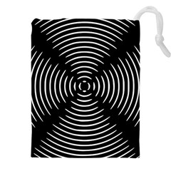 Gold Wave Seamless Pattern Black Hole Drawstring Pouches (xxl) by Mariart