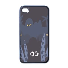 Ghost Halloween Eye Night Sinister Apple Iphone 4 Case (black) by Mariart