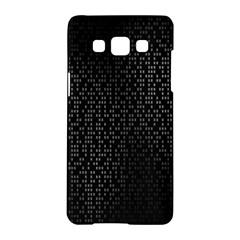 Gray Plaid Black Samsung Galaxy A5 Hardshell Case  by Mariart