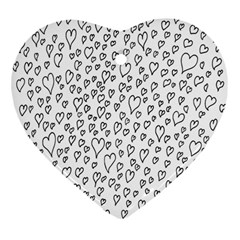 Heart Doddle Heart Ornament (two Sides) by Mariart