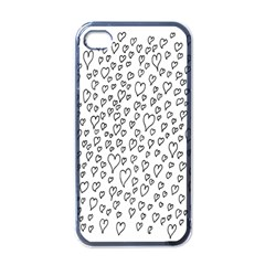 Heart Doddle Apple Iphone 4 Case (black) by Mariart