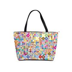 Circle Rainbow Polka Dots Shoulder Handbags by Mariart