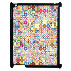 Circle Rainbow Polka Dots Apple Ipad 2 Case (black) by Mariart