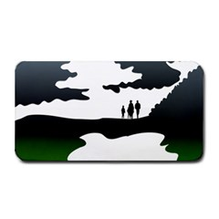 Landscape Silhouette Clipart Kid Abstract Family Natural Green White Medium Bar Mats by Mariart