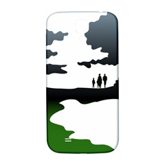 Landscape Silhouette Clipart Kid Abstract Family Natural Green White Samsung Galaxy S4 I9500/i9505  Hardshell Back Case by Mariart