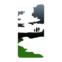 Landscape Silhouette Clipart Kid Abstract Family Natural Green White Samsung Galaxy Alpha Hardshell Back Case by Mariart