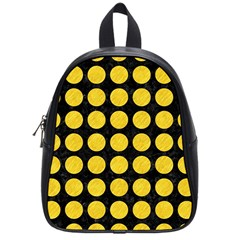 Circles1 Black Marble & Yellow Colored Pencil (r) School Bag (small) by trendistuff
