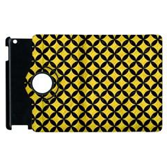 Circles3 Black Marble & Yellow Colored Pencil Apple Ipad 2 Flip 360 Case by trendistuff