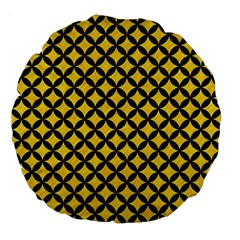 Circles3 Black Marble & Yellow Colored Pencil Large 18  Premium Flano Round Cushions by trendistuff