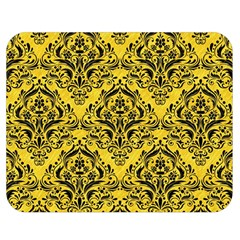 Damask1 Black Marble & Yellow Colored Pencil Double Sided Flano Blanket (medium)  by trendistuff