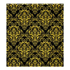 Damask1 Black Marble & Yellow Colored Pencil (r) Shower Curtain 66  X 72  (large)  by trendistuff