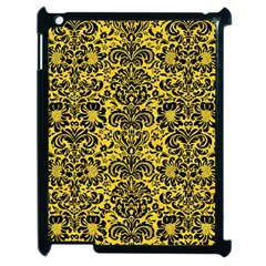 Damask2 Black Marble & Yellow Colored Pencil Apple Ipad 2 Case (black) by trendistuff