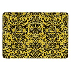 Damask2 Black Marble & Yellow Colored Pencil Samsung Galaxy Tab 8 9  P7300 Flip Case by trendistuff