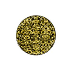 Damask2 Black Marble & Yellow Colored Pencil (r) Hat Clip Ball Marker (4 Pack) by trendistuff