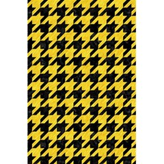 Houndstooth1 Black Marble & Yellow Colored Pencil 5 5  X 8 5  Notebooks by trendistuff