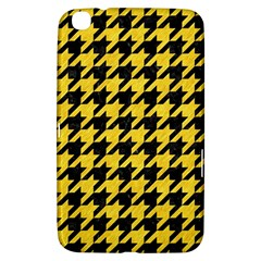 Houndstooth1 Black Marble & Yellow Colored Pencil Samsung Galaxy Tab 3 (8 ) T3100 Hardshell Case  by trendistuff