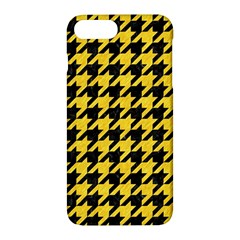 Houndstooth1 Black Marble & Yellow Colored Pencil Apple Iphone 7 Plus Hardshell Case by trendistuff