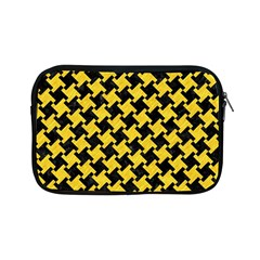 Houndstooth2 Black Marble & Yellow Colored Pencil Apple Ipad Mini Zipper Cases by trendistuff