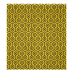 Hexagon1 Black Marble & Yellow Colored Pencil Shower Curtain 66  X 72  (large)  by trendistuff