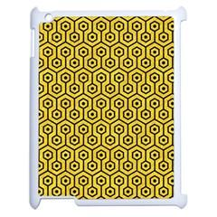Hexagon1 Black Marble & Yellow Colored Pencil Apple Ipad 2 Case (white)