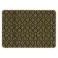 Hexagon1 Black Marble & Yellow Colored Pencil (r) Samsung Galaxy Tab 8 9  P7300 Flip Case by trendistuff
