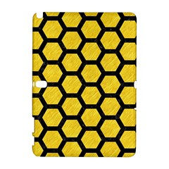 Hexagon2 Black Marble & Yellow Colored Pencil Galaxy Note 1