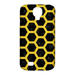 Hexagon2 Black Marble & Yellow Colored Pencil (r) Samsung Galaxy S4 Classic Hardshell Case (pc+silicone) by trendistuff