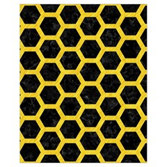 Hexagon2 Black Marble & Yellow Colored Pencil (r) Drawstring Bag (small) by trendistuff