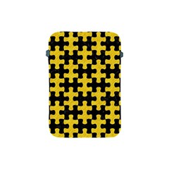 Puzzle1 Black Marble & Yellow Colored Pencil Apple Ipad Mini Protective Soft Cases by trendistuff