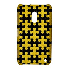 Puzzle1 Black Marble & Yellow Colored Pencil Nokia Lumia 620 by trendistuff