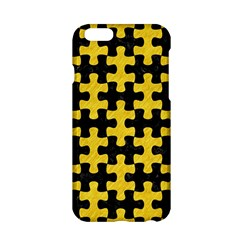 Puzzle1 Black Marble & Yellow Colored Pencil Apple Iphone 6/6s Hardshell Case