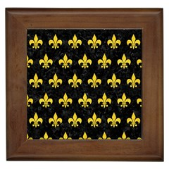 Royal1 Black Marble & Yellow Colored Pencil Framed Tiles by trendistuff