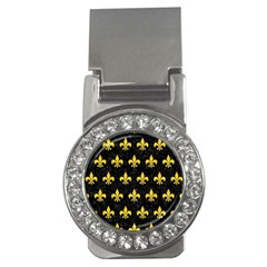 Royal1 Black Marble & Yellow Colored Pencil Money Clips (cz)