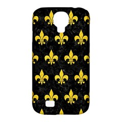 Royal1 Black Marble & Yellow Colored Pencil Samsung Galaxy S4 Classic Hardshell Case (pc+silicone) by trendistuff