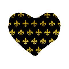 Royal1 Black Marble & Yellow Colored Pencil Standard 16  Premium Flano Heart Shape Cushions by trendistuff