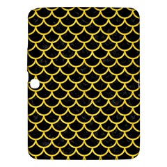 Scales1 Black Marble & Yellow Colored Pencil (r) Samsung Galaxy Tab 3 (10 1 ) P5200 Hardshell Case  by trendistuff