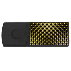 Scales2 Black Marble & Yellow Colored Pencil (r) Rectangular Usb Flash Drive by trendistuff