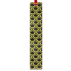 Scales2 Black Marble & Yellow Colored Pencil (r) Large Book Marks by trendistuff