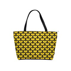 Scales3 Black Marble & Yellow Colored Pencil Shoulder Handbags by trendistuff