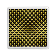 Scales3 Black Marble & Yellow Colored Pencil (r) Memory Card Reader (square)  by trendistuff