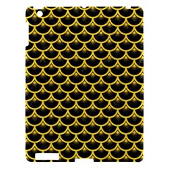 Scales3 Black Marble & Yellow Colored Pencil (r) Apple Ipad 3/4 Hardshell Case by trendistuff