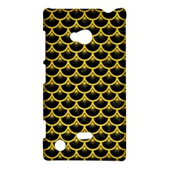 Scales3 Black Marble & Yellow Colored Pencil (r) Nokia Lumia 720 by trendistuff
