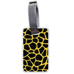 Skin1 Black Marble & Yellow Colored Pencil Luggage Tags (two Sides) by trendistuff