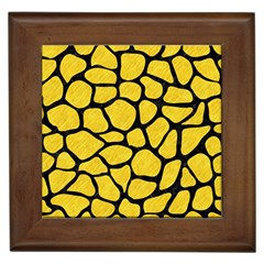 Skin1 Black Marble & Yellow Colored Pencil (r) Framed Tiles by trendistuff