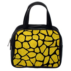 Skin1 Black Marble & Yellow Colored Pencil (r) Classic Handbags (one Side) by trendistuff