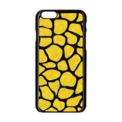 Skin1 Black Marble & Yellow Colored Pencil (r) Apple Iphone 6/6s Black Enamel Case by trendistuff